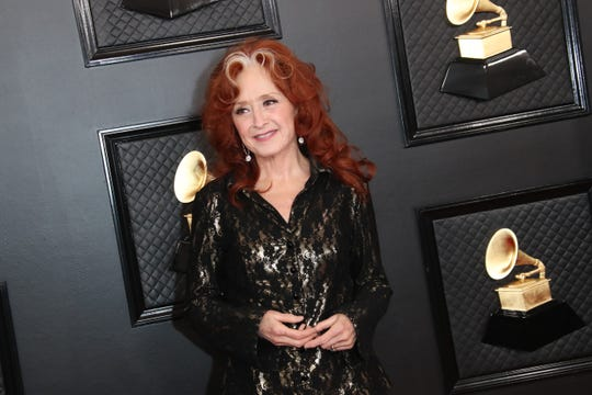 Bonnie Raitt arrives on the red carpet during the 62nd annual GRAMMY Awards on Jan. 26, 2020 at the STAPLES Center in Los Angeles, Calif.
