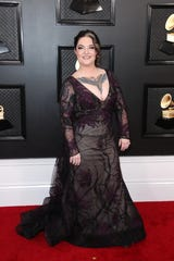 Ashley McBryde arrives on the red carpet during the 62nd annual GRAMMY Awards on Jan. 26, 2020 at the STAPLES Center in Los Angeles, Calif.