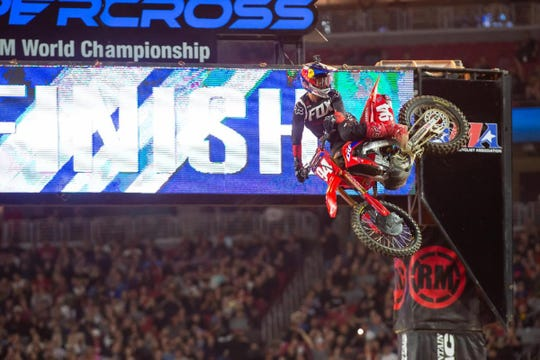 Ken Roczen was dominant during Saturday night's Monster Energy supercross event at State Farm Stadium in Glendale.
