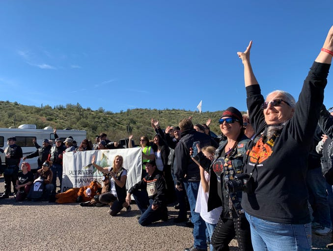 About 1,000 motorcyclists attended the Salt River Wild Horses Management Group's fifth annual Ride for the Salt River Wild Horses event on Jan. 25, 2020.