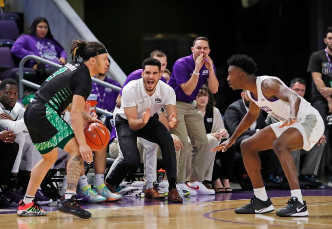 Scenes from Grand Canyon's basketball game against Utah Valley.