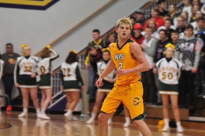 Northeastern junior Carter Lumpkin is averaging 16.8 points per game on 46 percent shooting from the field this season .