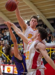 Forward Joey Finley (23) and the Palma Chieftains are poised for a high seed in the CCS Division IV playoffs starting this weekend.