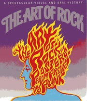 """Wes Wilson created the cover for the book """"The Art of Rock,"""" released in 1985."""