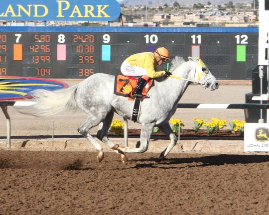 Rig Time won the Johnie L. Jamison Handicap on Sunday at Sunland Park Racetrack & Casino.