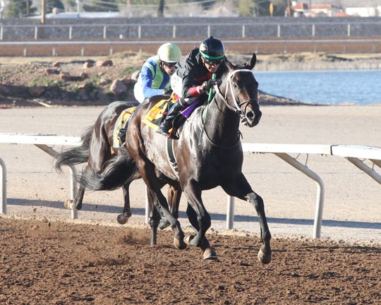 Rowdy Yates won the 57th running of the Riley Allison Derby on Sunday at Sunland Park Racetrack & Casino.