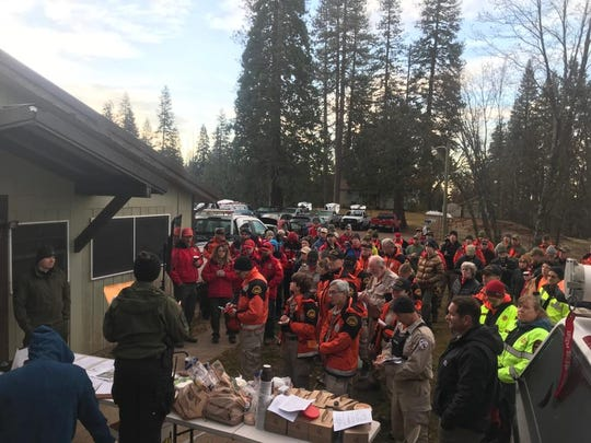 Deputies and volunteers from across the Central Valley celebrate after finding a missing Mariposa County man in safe condition.