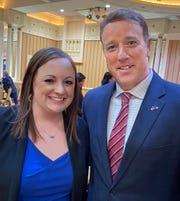State Sen. Pat Fallon, right, endorses 97th District Attorney Casey Polhemus in her bid for re-election to the office serving Archer, Clay and Montague counties.