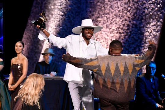 Lil Nas X accepts the award for Best Music Video for 'Old Town Road' during the 62nd annual GRAMMY Awards Premiere Ceremony.