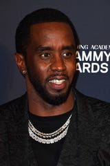 """Sean """"Diddy"""" Combs arrives for the Recording Academy and Clive Davis pre-Grammy gala."""
