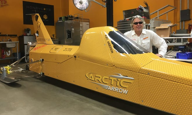 Kurt Anderson and his rocket-powered Arctic Arrow will attempt to break a world record on Bear Lake in Manawa.
