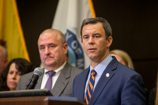 Monmouth County Prosecutor Christopher Gramiccioni and Acting Middlesex County Prosecutor Christopher Kuberiet announce that a  body was identified as Stephanie Parze, 25, a woman who went missing in October, at the Monmouth County Prosecutor's Office in Freehold, N.J., on  Jan. 27.