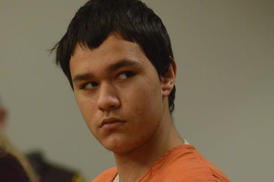 Kolbie McGinn in court on Monday.