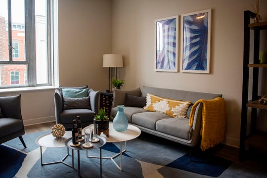 A one bedroom apartment on the third floor of the Milton is pictured on Monday, Jan. 27, 2020 in downtown Battle Creek, Mich.