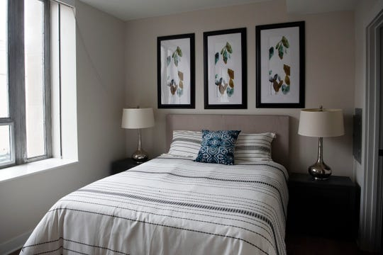 A studio apartment on the third floor of the Milton is pictured on Monday, Jan. 27, 2020 in downtown Battle Creek, Mich.