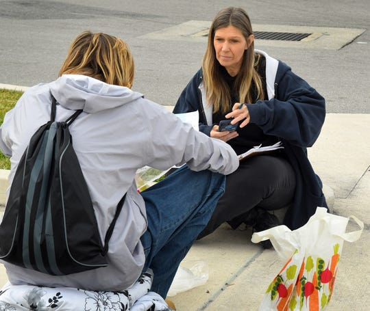 Gathering information in the Cocoa area about the homeless in Brevard. Miriam Moore, executive director of the Brevard Homeless Coalition, was among the people all over the county conducting a 24-hour Point-in-Time from 1 p.m. Jan. 26 to 1 p.m. Jan. 27 to determine how many homeless are in the area.