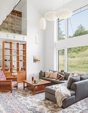 The Joslin Hill Passive House uses windows to great effect for heating.
