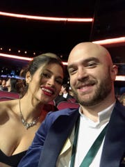 John Brancy of Mullica Hill and his girlfriend, actress Dy Maximilian, attend the Grammy Awards ceremony where Brancy won for Best Opera Recording.