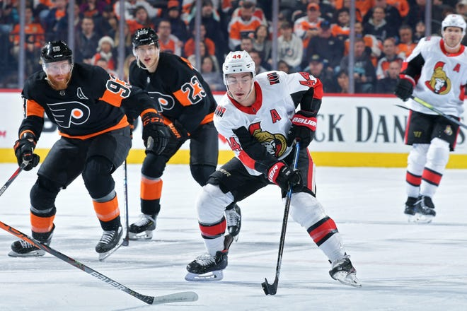 Ottawa's Jean-Gabriel Pageau is one of the rumored names to be available and potentially on the Flyers' radar with four weeks until the NHL's trade deadline.