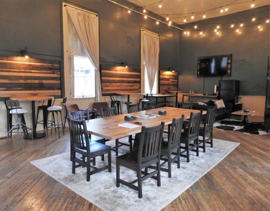 The Township Room offers seating for 35 to 40 people, Wi-Fi, and flat screen television.
