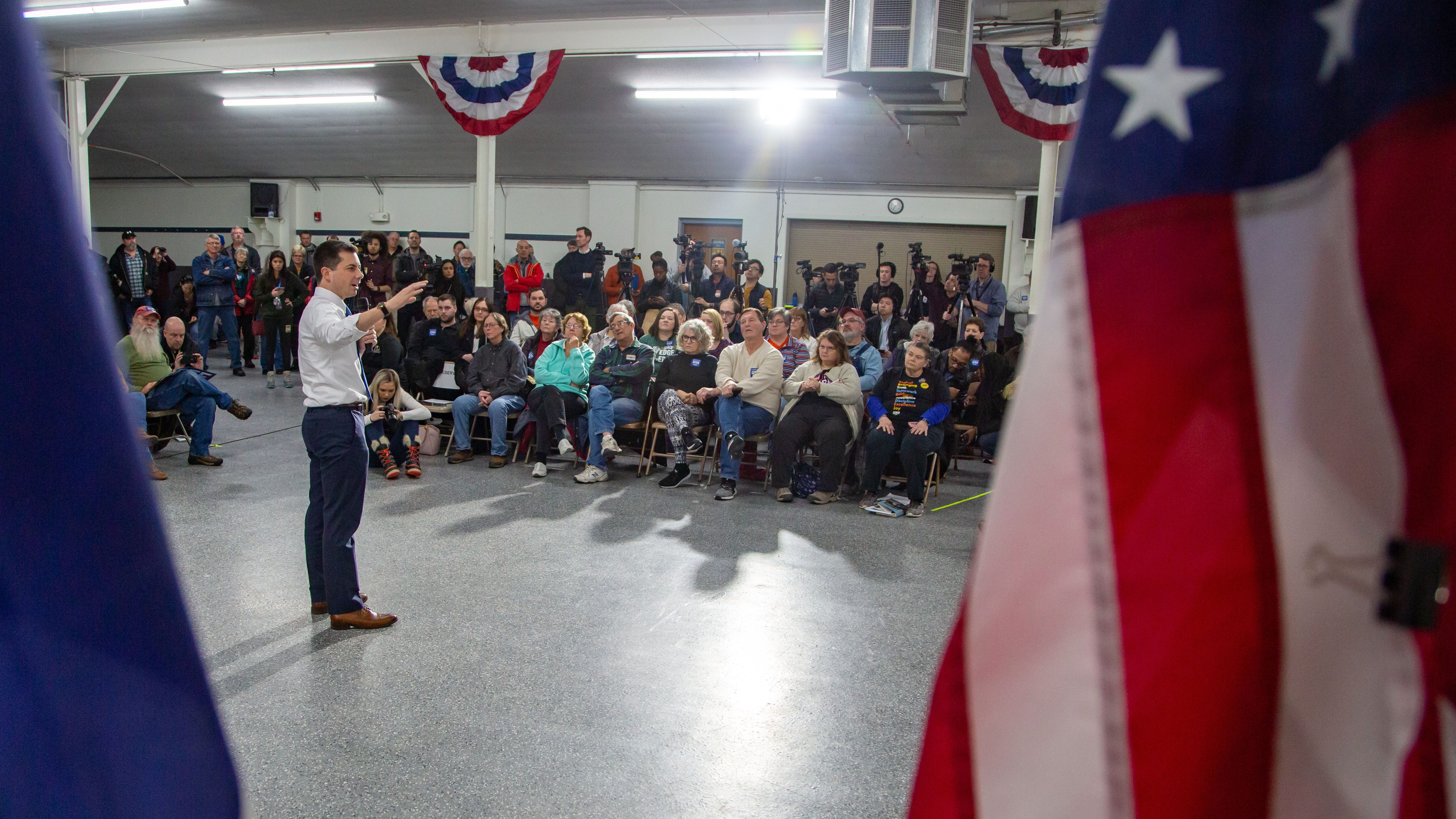 Photos: Pete Buttigieg speaks during a campaign event in Boone