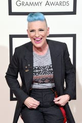 Comedian Lisa Lampanelli attends the Grammy Awards on February 15, 2016, in Los Angeles.