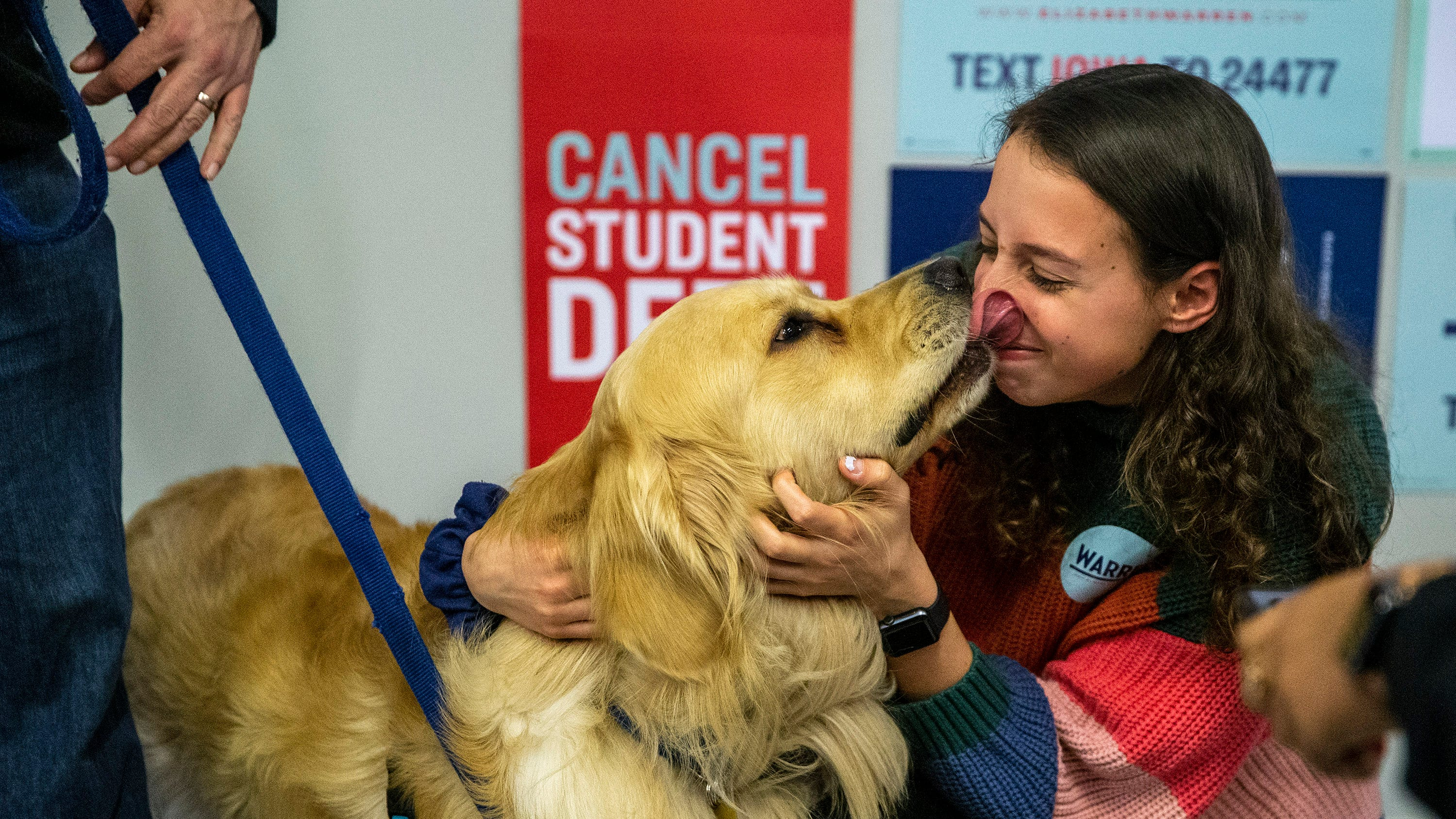 Photos: Bailey Warren visits Drake University campus to meet Griff and students