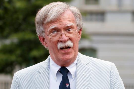 Then-national security adviser John Bolton speaks in July 2019.
