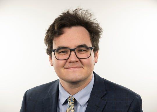 Aaron Andrews, Detroit News Opinions Editor. Photo taken on Wednesday, November 27, 2019. (John T. Greilick, The Detroit News)