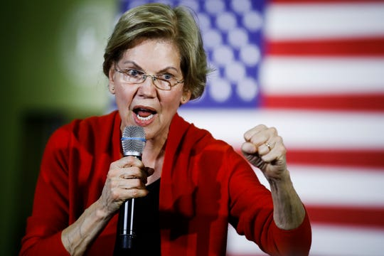 Democratic presidential candidate Sen. Elizabeth Warren, D-Mass., speaks during a campaign event, Sunday, Jan. 26, 2020, in Cedar Rapids, Iowa.