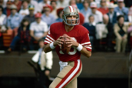 Quarterback Joe Montana helped lead the San Francisco 49ers to their first Super Bowl title in 1981.