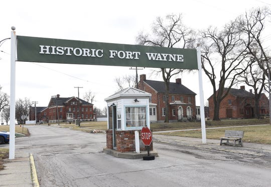 This is the main entrance to historic Fort Wayne in Detroit.