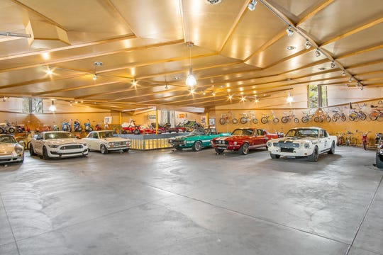 Serious car buffs won't want to miss out on an estate near Lake Michigan with a 12,000-square-foot temperature-controlled building for storing a car collection.