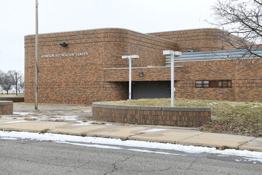 The Johnson Recreation Center, vacant since 2006 due to budget cuts, seen here in Detroit on Jan. 27, 2020.