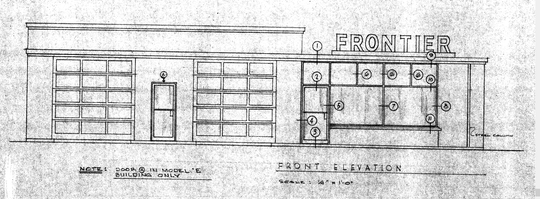 A 1961 design template shows what the original Frontier gas station likely looked like when it was constructed at 501 S. Taft Hill Rd. in 1963.