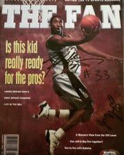 Eric Jarinko's magazine autographed by Kobe Bryant