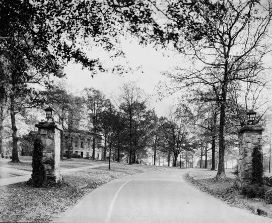 It wasn't until the 1920s that the university's curving drive and shaded campus was landscaped into a park-like setting.