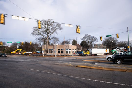 A future Burger King location under construction at the corner of Academy and Pendleton Streets in Greenville.