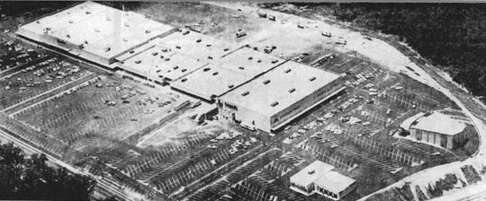 Bell Tower mall in all its glory the day before its grand opening on June 11, 1970. With 325,000 square feet of space on 34 acres, it was the second-largest enclosed mall in the state.