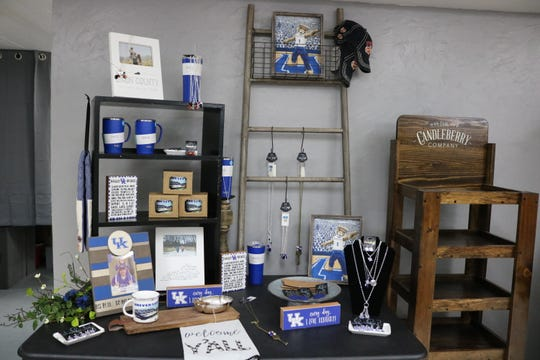 UK Wildcat items are available to customers as you enter the store in downtown Morganfield.