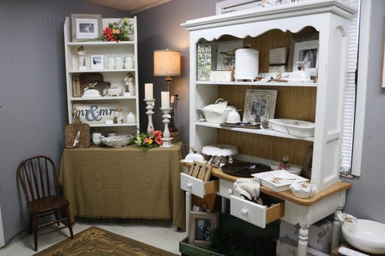 A New Leaf offers a wide variety of items including home decor and dining items seen here.