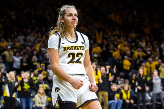 Iowa women's basketball star Kathleen Doyle has been showing her fun, feisty side on the court consistently during her senior season.