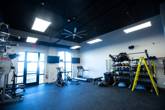A multi-purpose use gym is pictured, Saturday, Jan. 25, 2020, at Golfletics in Coralville, Iowa.