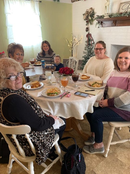 A group of women enjoy a lunch at The Gathering Place in Powell shortly after its opening in early January 2020.