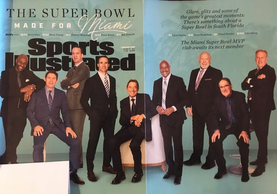 Peyton Manning is on the cover of the February issue of Sports Illustrated.