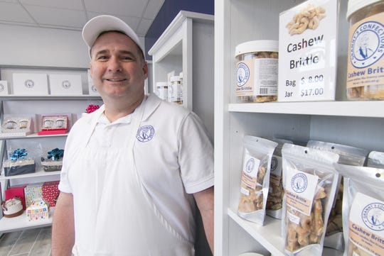 Co-owner Robert Page, shown in his Genoa Township location Monday, Jan. 27, 2020, relocated Granny's Confections from his former location in Hartland.