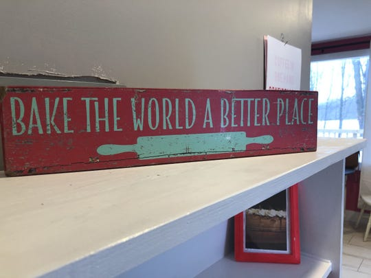 Decorations on a shelf inside The Cheesecake Shack, a small bakery KorrieLinn DeLand plans to open just outside Charlotte by mid-March.