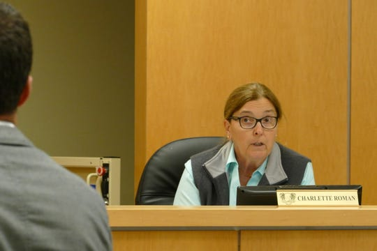 Charlette Roman, Marco Island City Council member, speaks to the architects in charge of Veterans' Community Park during a council meeting on Jan 21, 2020.