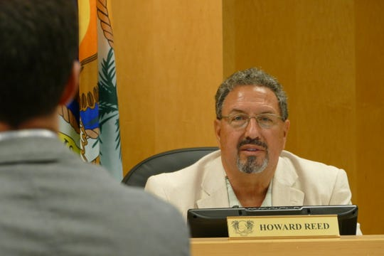 Howard Reed, Marco Island City Council member, speaks to the architects in charge of Veterans' Community Park during a council meeting on Jan 21, 2020.
