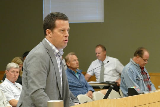 James Pankonin, architect forKimley-Horn & Associates, speaks to Marco Island City Council members during a meeting on Jan. 21, 2020.